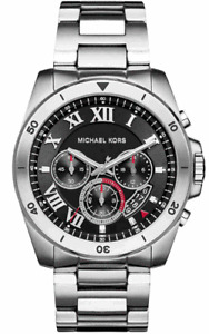Michael Kors MK8438 Brecken Chronograph Black Dial Stainless Steel Men's Watch