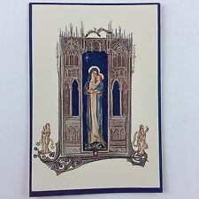 1955 Vintage Used Christmas Greeting Card Mid Century Mary & Baby Jesus