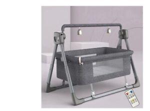 Multifunctional Luxury Baby Bed • Remote Electric Cradle Rocker Oxford Interior