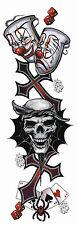 Aufkleber Lebe ein Spiel 20x6 Life a Gamble Decal Würfel Zocker Kreuz Totenkopf