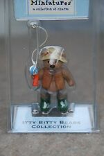 HALLMARK MERRY MINIATURES ITTY BITTY BEARS Fisher 2002 Fisherman Fishing