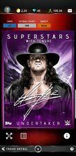 Topps WWE Slam Digital Card Undertaker tenure signature award 2020