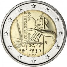 2 euro 2009 ITALIA Louis Braille Italy Italie Italien 4 pcs 4 monete 4 coins