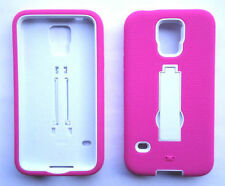 PINK/WHITE ARMOR Case Cover For Samsung Galaxy S5 / G9009D G900A G900T G900W8