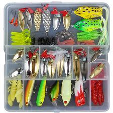 120PCS Lots Fishing Fish lure popper soft lure Spoon HookBait Frog set