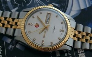 Nice & Rare Vintage Rado Voyager 2 Tone Automatic 25 jewels Swiss Made Watch