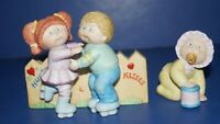 Vintage Lot of 2  1984 Cabbage Patch Kids Porcelain Figurines by Xavier Roberts