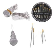 100x Needle Threader&30 Assorted Hand Sewing Needles Quilt Large-eye Needles