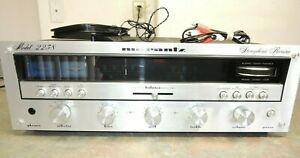 XLNT MARANTZ 2238 Stereophonic AM FM Receiver Amplifier Vintage Gyro CLEAN WORKS