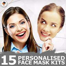15 Personalised Photo Face Masks Party Accessory Hen Parties Stag Birthdays