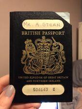 OLD VINTAGE BLUE BRITISH PASSPORT  1984 WITH STAMPS Australian Visa