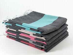 DUSK Turkish Towel Peshtemal Sarong Bath SPA Beach Hammam Gym 100% Cotton