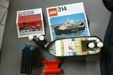 lot de lego n°314 et 659 police avec instructions 70's TBE legoland