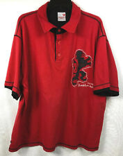 Brooklyn Xpress Red Polo/Rugby Embroidered Large Lion Logo Polo Shirt XXL