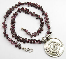 "925 Silver Natural GARNET ! Valentine's Day Necklace 20.6"" PROMOTION Jewelry"