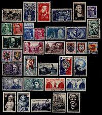 L'ANNÉE 1951 sauf Grands Hommes, Oblitérés = Cote 40€ / Lot Timbres France