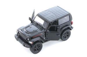 "5"" Kinsmart 2018 Jeep Wrangler Rubicon Black Diecast Model Toy  Car 1:34 Scale"