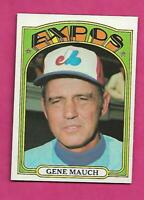 1972 TOPPS # 276 EXPOS GENE MAUCH  NRMT-MT CARD (INV# C1255)