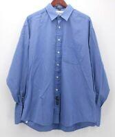 Tommy Hilfiger Men's Blue Button Down Dress Shirt  size 17 34 35