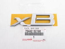 "Genuine OEM Scion 75442-52190 ""xB"" Rear Liftgate Nameplate Badge Emblem 04-15 xB"