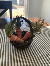 Easter Carrot Basket Tabletop Decor