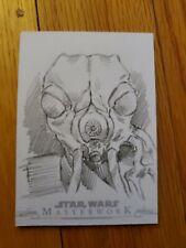 2019 Star Wars Masterwork Can Baran Sketch Card