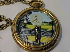 Fossil Golf Pocket Watch Limited Edition Rare LE-9470  Clean