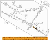 KIA OEM 16-18 Optima Steering Gear-Inner Tie Rod End 57724C1000