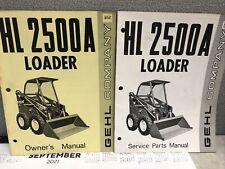 Gehl Hl 2500a Skid Steer Loader Owners Amp Service Manuals