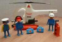Vintage 1986 Playmobil  3144 Police Helicopter