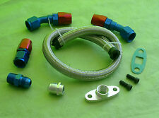Burstflow Öl Rücklauf Leitung Set Kit passend für Turbolader universal AN10 D10