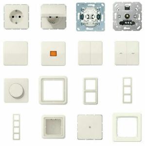 Jung CD500 cremeweiß glänzend Steckdosen, Schalter, Rahmen Auswahl