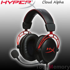 GENUINE Kingston HyperX Cloud Alpha Pro Gaming Headset Black Red PC PS4 XBox One