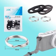 Camera Strap Round Metal Lug Ring 12mm Protective Leather Pad Pair JJC NS-OA1