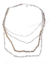 Lucky Brand Silver/Gold Bead Necklace