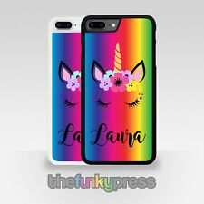 Personalised Unicorn Phone Case For  iPhone Series Pretty Rainbow Add Any Name