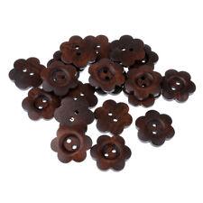 20x Bottoni in legno a forma di fiore con 2 fori per cucire oggetti per