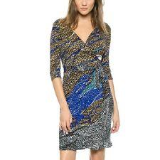 DVF Diane von Furstenberg New Julian Two Wrap Dress US sz 4 UK sz 8 $448