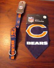 NEW NFL Chicago Bears Jersey Bandana Collar New Dog Size Large Adjustable Nylon