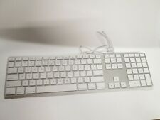 Apple A1243 Aluminum Wired USB Keyboard with Numeric Keypad and USB Port
