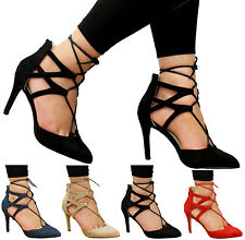 Stiletto Formal Lace-up Synthetic Shoes for Women