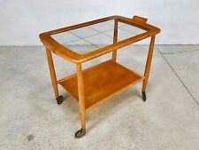 German Mid Century Modern TEA TROLLEY Bar Serving Cart Servierwagen | 1950s