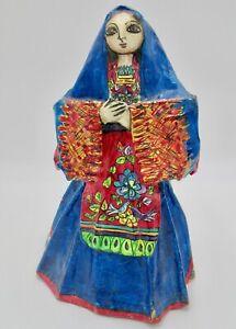 Unusual Folky Mexican Papier Mache Doll