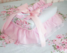Shabby Chic Cottage Floral Blue and Pink Tulle Ruffles Lace Tissue Box Cover