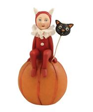 Little Devil on Pumpkin - Halloween - Black Cat - by Bethany Lowe Al6926