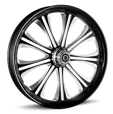 "DNA ""ENVY"" CONTRAST CUT FORGED BILLET 23"" X 3.75"" FRONT WHEEL HARLEY FL SOFTAIL"