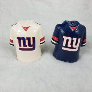 New York Giants NFL Salt & Pepper Shakers Team Jerseys Blue White Football