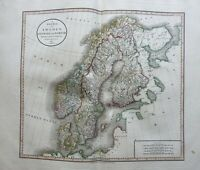 Scandinavia Denmark Sweden Norway Finland 1801 Cary folio map