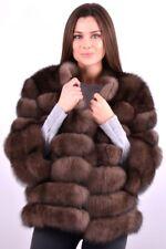 2in1 Fuchs Pelz Jacke Weste Color Sable Zobel Pelzmantel Fox Vest Coat Pelliccia