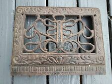 OLD VICTORIAN Cast Iron Heat Wall Vent Floor Grille Grate Register 7.5 x 12.5